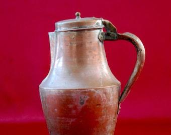 French Antique Copper Pitcher/ Jug