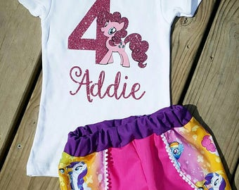 My little pony outfit- pinkie pie outfit- coachella shorts- my little pony shorts- my little pony shirt