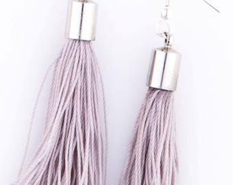 Tassel Earrings Dempse and Co - Grey