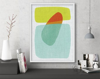 "mid century modern art, mid century modern wall art, large art, printable art, instant download, large wall art, abstract art - ""Pods No. 3"""