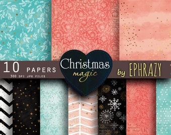 30% OFF AND MORE. Christmas digital paper. Christmas paper. Christmas. Christmas digital. Pink mint. Pink gold. Snowflake digital paper.
