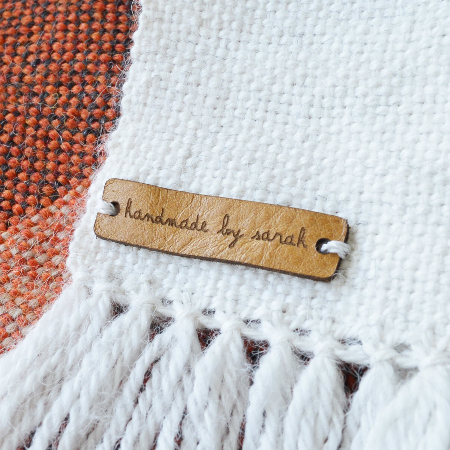 Knitting Labels Personalized : Custom leather labels personalized