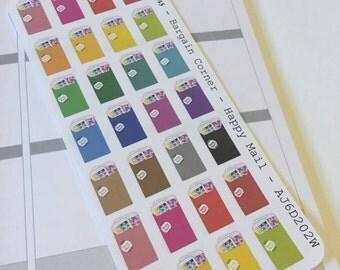 AJ6D202W,  Bargain Corner Happy Mail, Planner Stickers