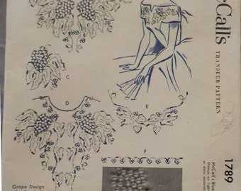 Vintage (1953) McCalls Beaded Embroidery Pattern