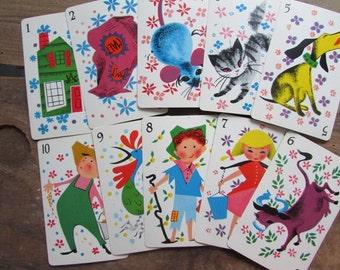 Vintage Children's Cards The House That Jack Built 10 Cards