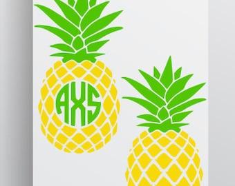 Pineapple SVG file; Pineapple monogram svg