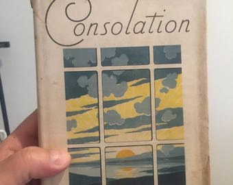 Free Shipping | 1932 Consolation by Mrs Chas E Cowman | Vintage Book | Antique Book | Mrs Chas E Cowman |