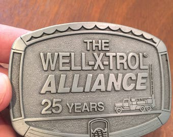 Vintage Well-X-Trol Alliance Belt Buckle in Great Condition .  Vintage Belt Buckle