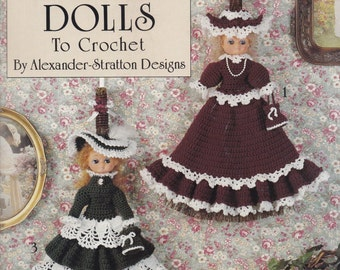Victorian Broom Dolls, Leisure Arts Crochet Pattern Booklet 2325
