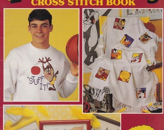 The Official Looney Tunes Cross Stitch Book, Leisure Arts Pattern Booklet 2723 Sylvester Tweety Taz Elmer Bugs Bunny Porky Pig & More