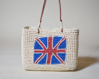 Adorable vintage union jack Great Britain flag woven small and square purse