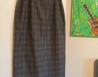 Long grey pencil skirt -size 12