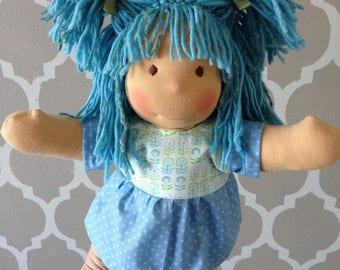 "New Handmade Waldorfdoll Waldorf Cloth Doll *Nikki* 14"""