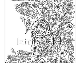 paisley coloring pages peace - photo#12