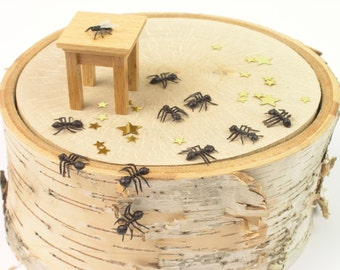 Vintage Gag Toys Ants and Fly Set - Vintage Plastic Ants and Fly