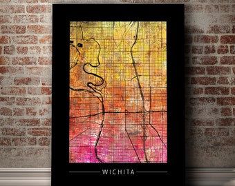 home decor stores in wichita ks wichita city map etsy 13372