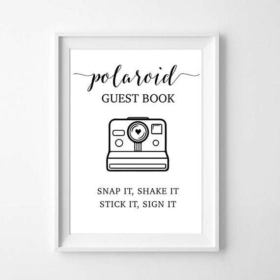 Guest Book Polaroid Camera: Polaroid Guest Book Snap It Shake It By WildConfettiWorkshop