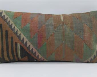 12x24 turkish geometric kilim pillow sofa pillow 12x24 throw pillow home decor ethnic pillow home decor cushion cover 664