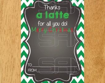 Starbucks Gift Card Holder Christmas Printable