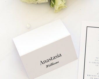 Modern Place Cards and Table Numbers, Name Cards, Printable Files or Printed Cards, Instagram Logo Table Numbers