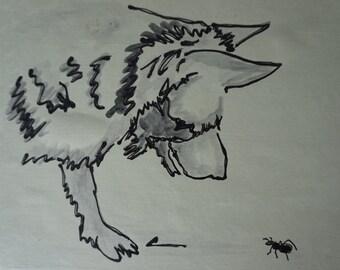 German shepherd art, German shepherd painting, shepherd illustration, German shepherd drawing, Shepherd art, German shepherd watercolor