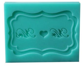 Mr & Mrs Cupcake Topper Silicone Fondant Mould Mat