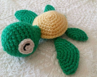 Amigurumi little turtle plush / / turtle / / kids gift / / birth gift / / handmade crochet.