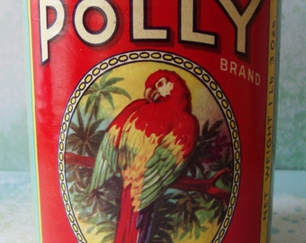Vintage Polly Brand Peeled Tomatoe Tin Can