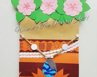Disney Moana Inspired Favor Bags Goodie Bags