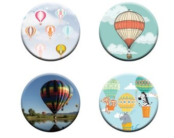 A pack of 4 of hot air balloons Pattern weights I deal for weighing down patterns on delicate fabrics no need for pins like TV sewing Bee