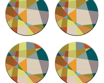 A pack of 4 geometry wallpaper design Pattern weights Ideal for weighing down patterns on delicate fabrics no need for pins