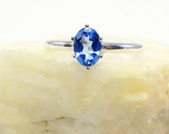 Swiss blue ring topaz, blue topaz ring, sterling silver topaz ring, swiss topaz ring, swiss , ring size 3 4 5 6 7 8 9 10 11 12 13