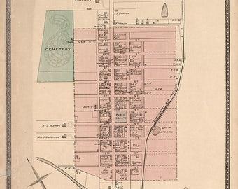 1877 Map of Millersburg Bourbon County Kentucky