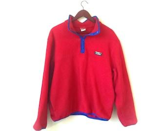 Vintage Red LL Bean Pullover fleece