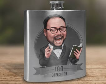 Officiant Gift Flask, Gift for Officiant, Wedding Officiant Gift, Will you be our Officiant, Minister Gift, Gift for Minister, Pastor Gift
