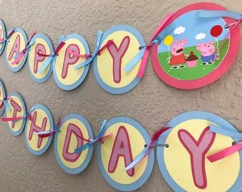 Peppa Pig Banner, Peppa Pig Birthday Banner, Peppa Pig Birthday Party, Peppa Pig Birthday, Peppa Pig Party