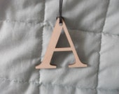 Necklace  Wooden Laser Cut Alphabet Letter  Any Letter You Like  Personalise