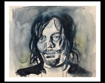 Daryl Dixon watercolor print
