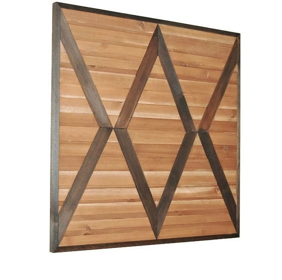 Wood Wall Hanging Art Part - 17: Wood Wall Art, Reclaimed Wood Art, Geometric Wood, Wood Wall Hanging,  Chevron Wall, Wood Sculpture, Country Decor, Reclaimed Wall Art,