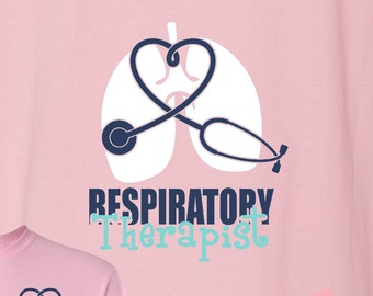 Respiratory Therapist Monogrammed Shirt RT Customized Personalized Great Gift Idea!