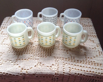 Termocrisa mugs Made in Mexico and Termo-Rey mugs made in Brazil,  all vintage and stacking