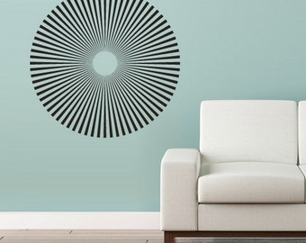 rvz3015 Wall Decal Vinyl Decal Sticker Circle Decal Modern