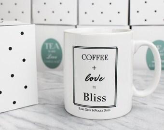 Coffee + Love = Bliss Mug