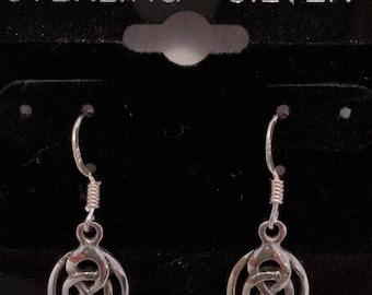 Sterling Silver Celtic Knot Dangle Earrings