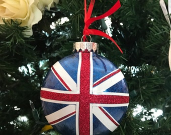 Union Jack flag plastic ornament