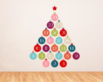 Christmas Ornament Countdown Decals for Your Kids (Advent Calendar)