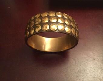 Taupe gold studded bangel