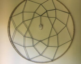 Large Dream Catcher With Crystal