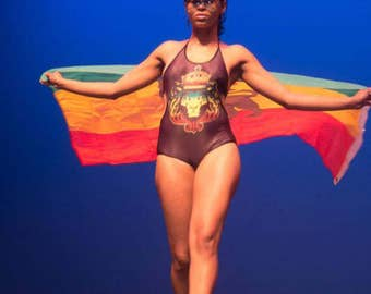 Rasta bathing suit