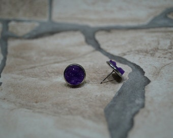 Ear plug purple Crystal